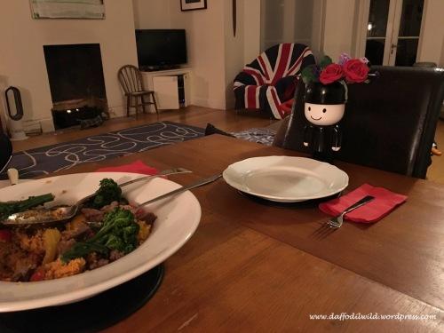 Homepride Fred, dinner date