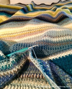 coastal colours, linen stitch