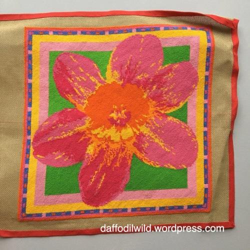 needlepoint daffodil